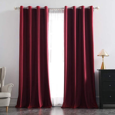 Brittany Velvet Blackout Curtains - Burgandy - Curtains Online - Discover-curtains