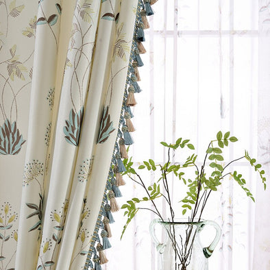 Rémy Korean Pastoral Blackout Curtain - Curtains Online - Discover-curtains