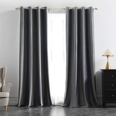 Brittany Velvet Blackout Curtains - Gray - Curtains Online - Discover-curtains