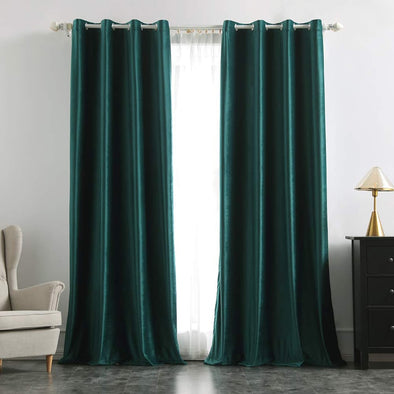 Brittany Velvet Blackout Curtains - Pine Green - Curtains Online - Discover-curtains