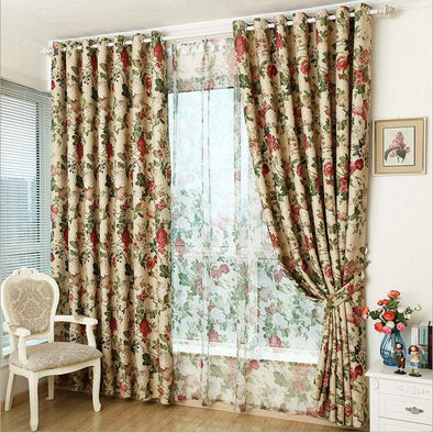 Astor Rideaux Fall Floral Print Curtains - Curtains Online - Discover-curtains