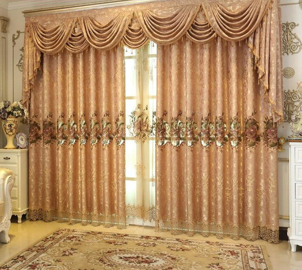 Rémy Hollow Jacquard Luxury Curtain Set - Curtains Online - Discover-curtains