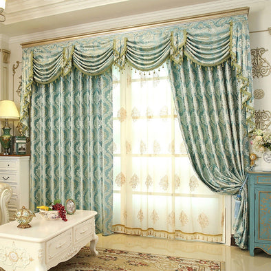 Rémy Classic Luxury Blackout and Sheer Curtain Set -Turquoise - Curtains Online - Discover-curtains