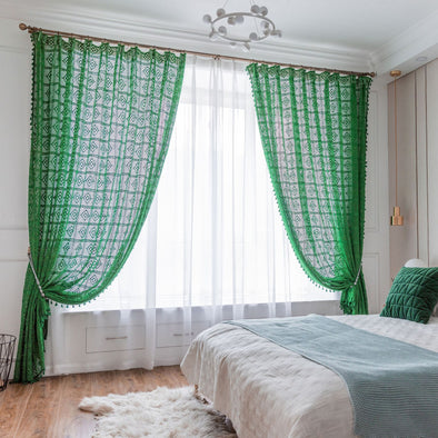 Rémy Crochet Sheer Curtains - Curtains Online - Discover-curtains