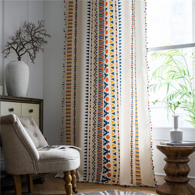 Astor rideaux Traditional Kacchi Design Semi-Shading Curtain - Curtains Online - Discover-curtains