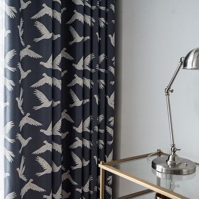 Grace Black Silk Shading Curtain - Curtains Online - Discover-curtains