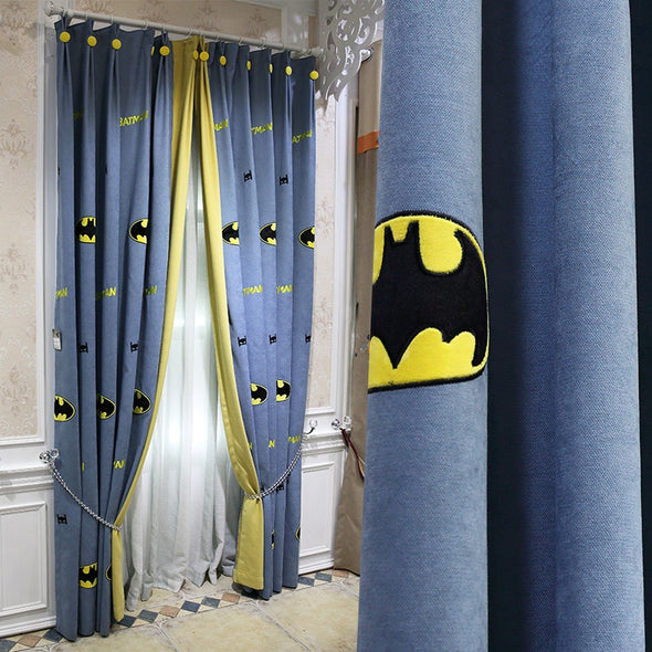Taylor.H Batman Blackout Curtain For Kids Bedroom - Curtains Online - Discover-curtains