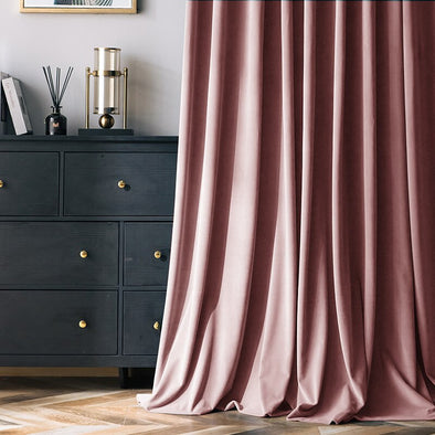 Jason Luxury Netherland Mink Velvet Curtains - Pink