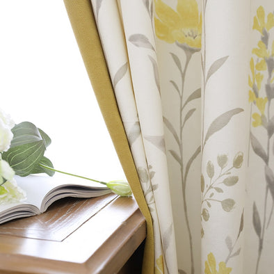 Taylor.H Cheveni Pastoral Mosaic Curtains Set - Curtains Online - Discover-curtains