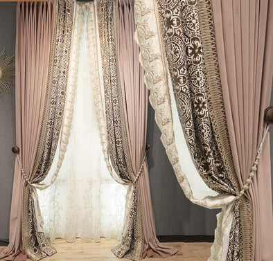 Valentina Pink Eloquent Designer Blackout Curtains