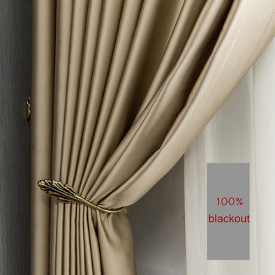 Rémy Gold Silk Blackout Thermal Curtains - Curtains Online - Discover-curtains