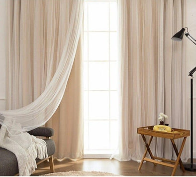 Jason Luxury Veil Curtain - Pink / Beige / Blue / White - Curtains Online - Discover-curtains