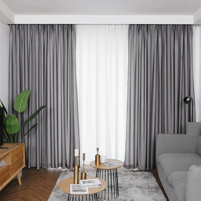 Jason Plain Crushed Sheer Curtain - Dark Gray - Curtains Online - Discover-curtains