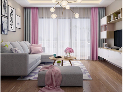 Brittany 2-Tone Blackout Curtains - PinkGray - Curtains Online - Discover-curtains