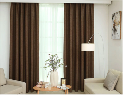 Modern Manhattan Linen Blackout Curtains - Brown - Curtains Online - Discover-curtains