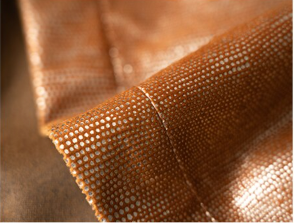 Brittany Luxury Sparkly Blackout Velvet Curtains - Orange - Curtains Online - Discover-curtains