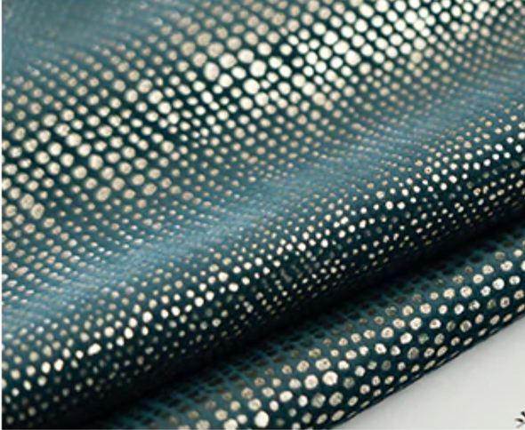 Brittany Luxury Sparkly Blackout Velvet Curtains - Cadel Blue - Curtains Online - Discover-curtains