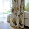 Jason Lotus Leaf Paint Semi-Blackout Curtain - Green - Curtains Online - Discover-curtains