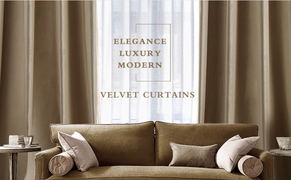 Brittany Velvet Blackout Curtains - Taupe - Curtains Online - Discover-curtains