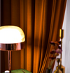 Taylor.H Light Luxury Velvet Curtain Set -  Burning Orange - Curtains Online - Discover-curtains