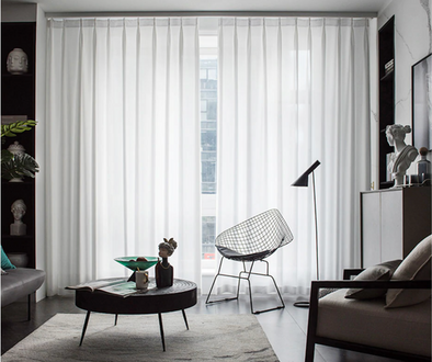 Jason Plain Crushed Sheer Curtain - White - Curtains Online - Discover-curtains