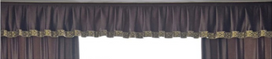 Mila Italian Velvet Bay Window Valance - Brown - Curtains Online - Discover-curtains