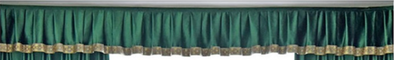 Mila Italian Velvet Bay Window Valance - Green - Curtains Online - Discover-curtains