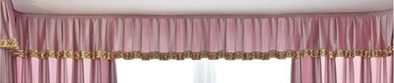 Mila Italian Velvet Bay Window Valance - Pink - Curtains Online - Discover-curtains