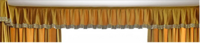 Mila Italian Velvet Bay Window Valance - Yellow - Curtains Online - Discover-curtains