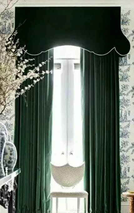 Mila Luxury Dutch Velvet Curtain- Dark Green Forest - Curtains Online - Discover-curtains