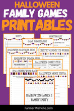 Load image into Gallery viewer, Halloween Game 2 Printable Family Bundle