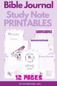 Purple Bird Bible Journal Printable