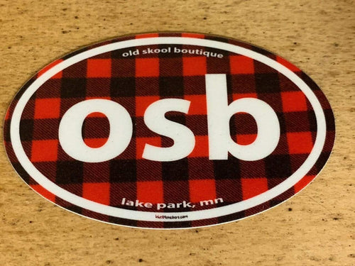 OSB Buffalo Plaid Sticker Blue 84