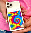 Cell Phone Credit Card Holder Boujie Bee Tie Dye Credit Card Holder