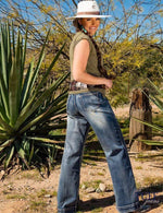 Just Tuff Breathe Wide Leg Trouser Jean Cowgirl Tuff