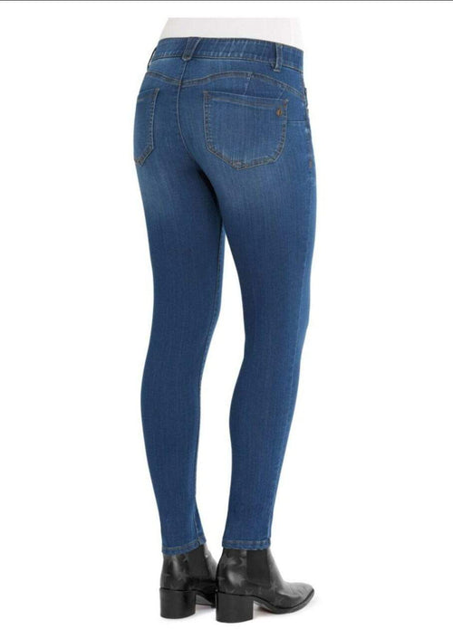 AB Solution Booty Lift Jegging Medium Wash Denim Blue Democracy