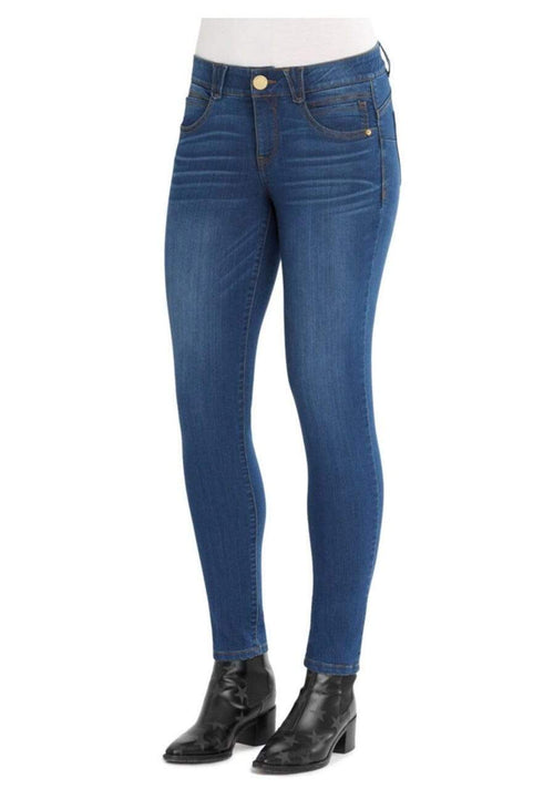 AB Solution Booty Lift Jegging Medium Wash Denim Blue Democracy 4