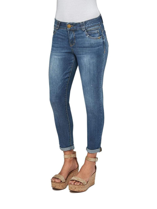 Blue AB Solution Ankle Skimmer Crop Jean Democracy 10