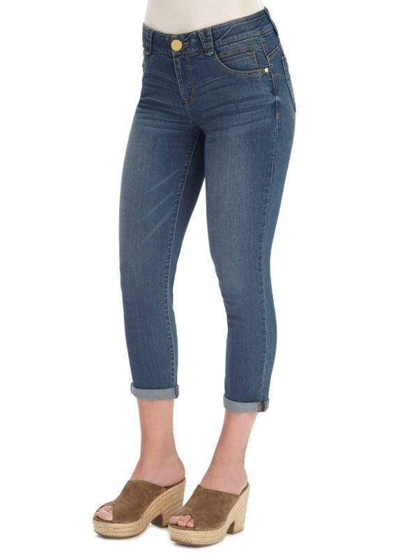 Blue AB Solution Ankle Skimmer Crop Jean Democracy