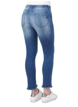 High Rise Ankle Length Fray Step Hem Jeans Democracy