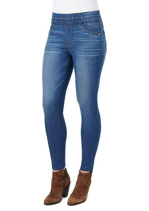 High Rise Pull On Ankle Glider Jegging Democracy 2
