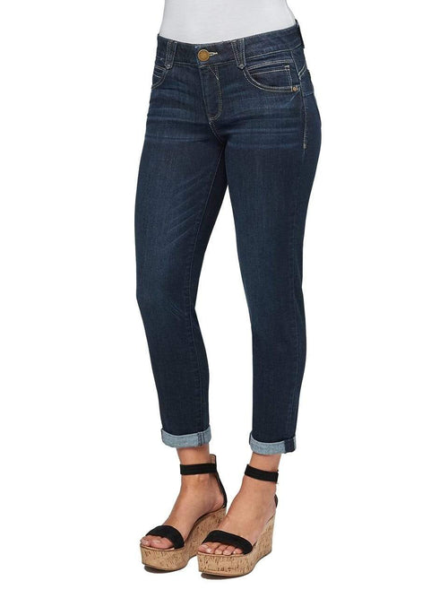 Indigo Blue AB Solution Ankle Skimmer Crop Jean Democracy 10