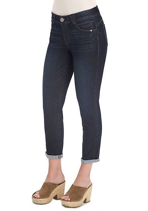 Indigo Blue AB Solution Ankle Skimmer Crop Jean Democracy