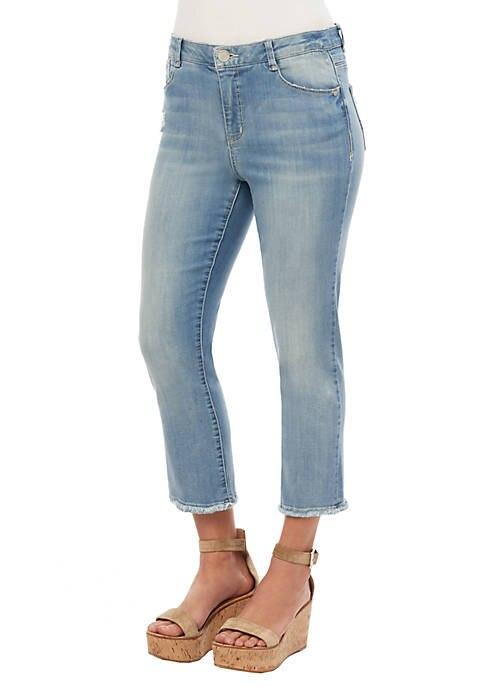 Light Blue High Rise Straight Crop Jeans Democracy 2