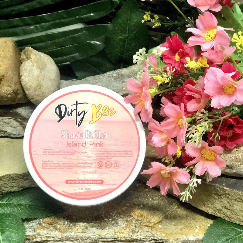 Island Pink Shave Butter Dirty Bee Shave Butter