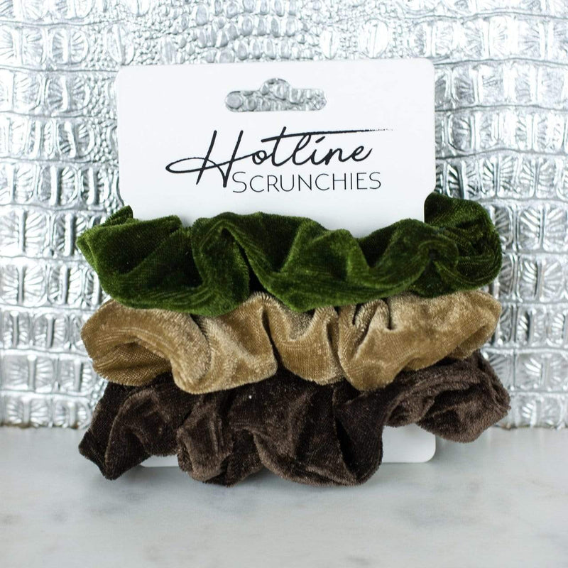 Forest Velvet Scrunchie Set Hotline Hair Ties