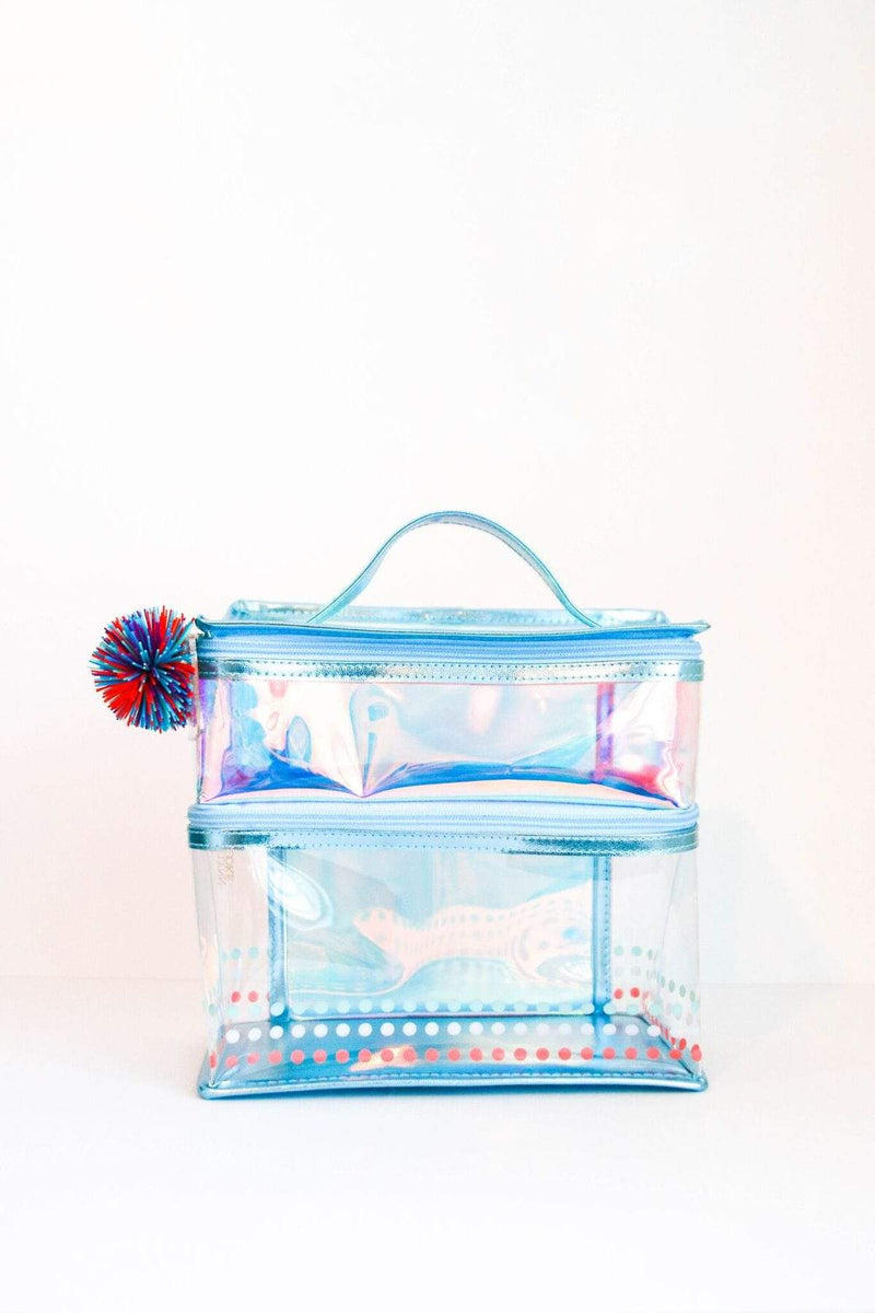 Blue Iridescent Two Compartment Lunch Box Jadelynn Brooke Lunch Box