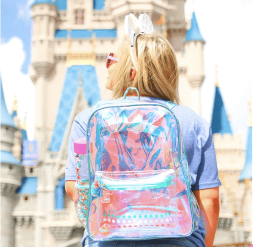 Ice Blue Clear Iridescent Backpack Jadelynn Brooke Backpack