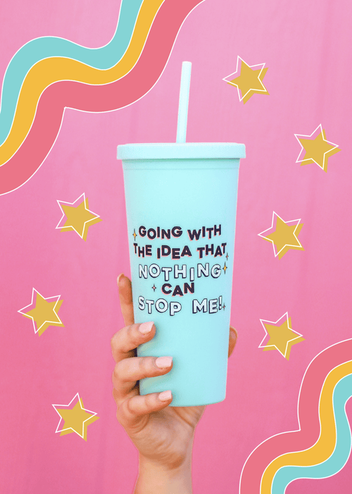 Nothing Can Stop Me Mint Matte Tumbler Jadelynn Brooke Tumbler