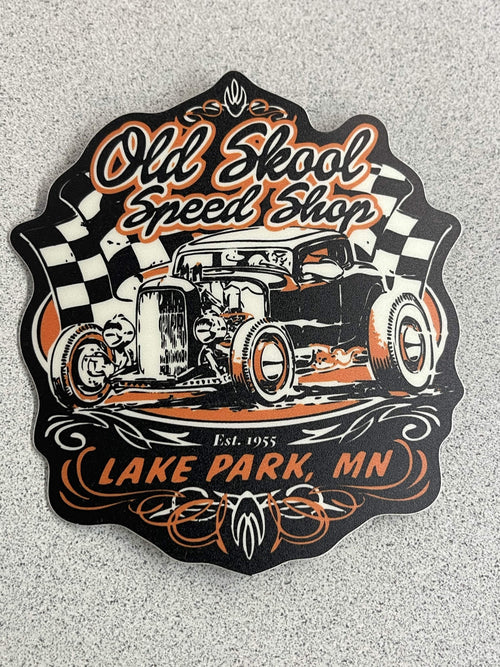Old Skool Speed Shop Sticker Old Skool Boutique One Size